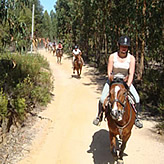 Verdemar paardrijden Alentejo